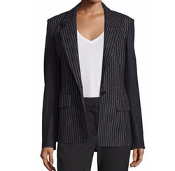 Striped Wool-Blend Jacket by DKNY in Modern Family