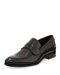 Lionel Leather Penny Loafer Shoes by Salvatore Ferragamo in The Second Best Exotic Marigold Hotel