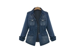 Slim Denim Coat Fashion Ladies Jacket by Newegg in Dope