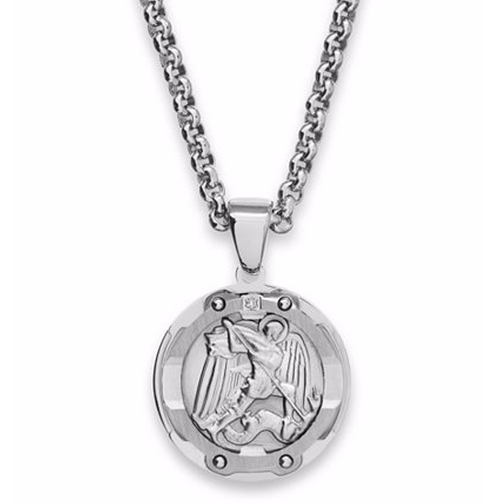 St. Michael Diamond Pendant Necklace by R.H. Macy in Suits - Season 5 Episode 10