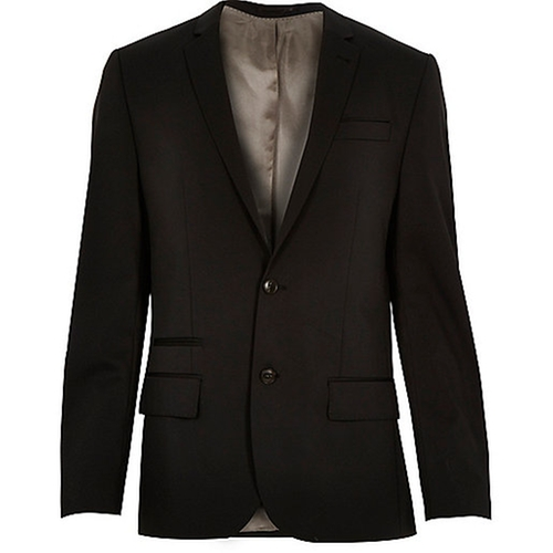 Wool-Blend Slim Suit Jacket by Black in Now You See Me 2