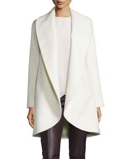Belted Wool Clutch Coat by Fleurette in Empire