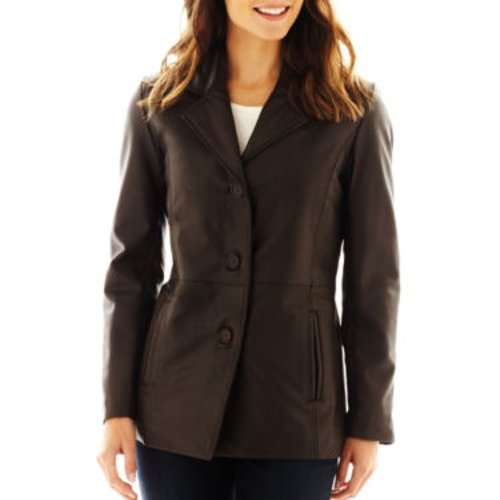 Leather Button-Front Jacket by Excelled in The Second Best Exotic Marigold Hotel