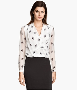Draped Blouse by H&M in Suits