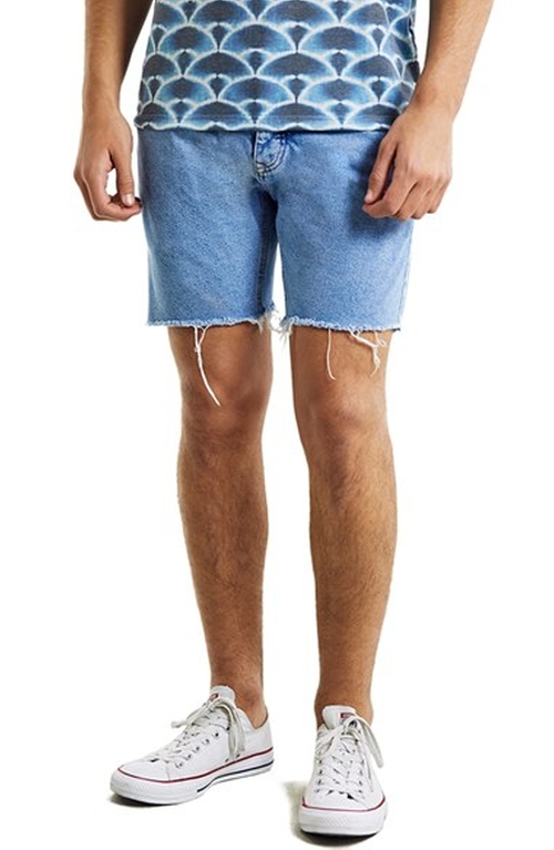 Skinny Fit Cutoff Denim Shorts by Topman in Everybody Wants Some