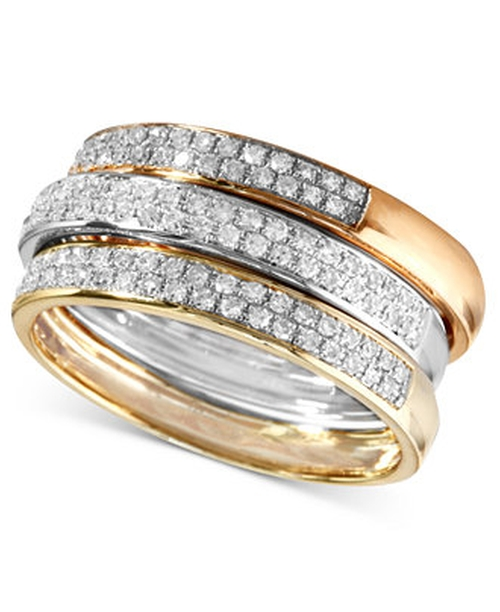 Diamond Stack Rings by Effy in The Other Woman