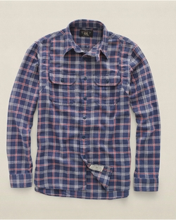 Plaid Cotton-Linen Workshirt by Ralph Lauren in Nashville
