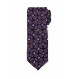 Deco Circles Woven Silk Tie by Ermenegildo Zegna in Designated Survivor