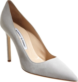 Suede BB Pumps by Manolo Blahnik in Suits
