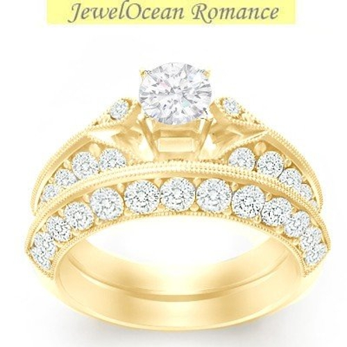 Antique Diamond Bridal Ring Sets by JeenJewels in The Best of Me
