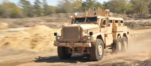 Cougar HE 6x6 Truck by Force Protection Industries in A Good Day to Die Hard