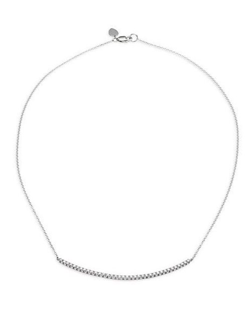 Diamond White Gold Chain Necklace by Meira T in Taken 3