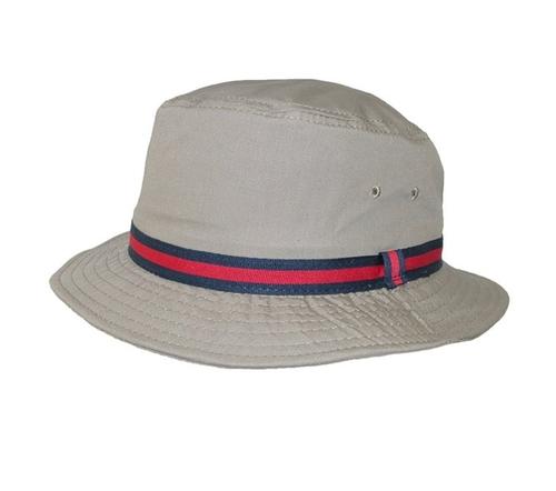 Men's British Tan Bucket Hat by Dorfman Pacific in Gold