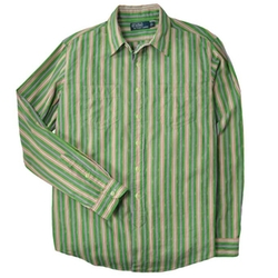 Custom-Fit Dobby Striped Shirt by Polo Ralph Lauren in Inherent Vice