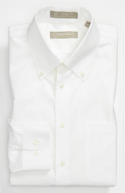 Solid Pinpoint Cotton Trim Fit Dress Shirt by Nordstrom in Anchorman 2: The Legend Continues