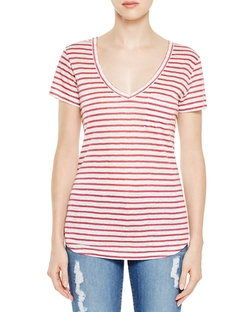 Lynnea Stripe Tee Shirt by Paige Denim in Vinyl