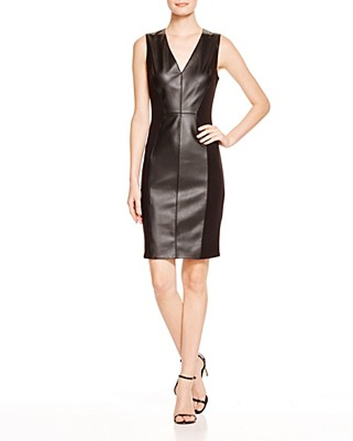 Faux Leather Sheath Dress by Dylan Gray in The Flash - Season 2 Episode 16