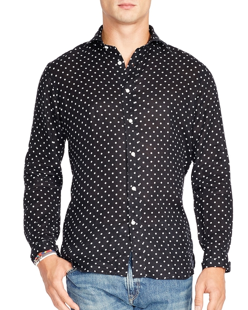 Polka Dot Button Down Shirt by Polo Ralph Lauren in Empire - Season 2 Episode 7
