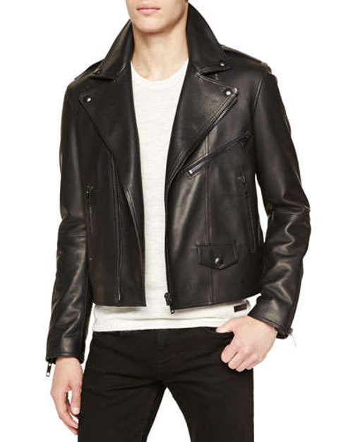Leather Moto Jacket by Burberry Brit in Fast Five
