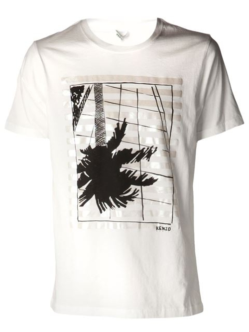 Palm Tree Print T-Shirt by Kenzo in Adult Beginners