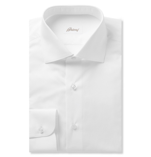 White Cotton Shirt by Brioni in Tomorrow Never Dies