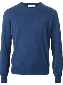 Crew Neck Sweater by Brunello Cucinelli in The Program