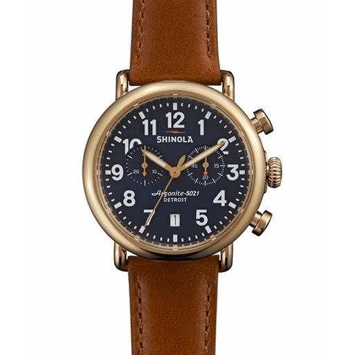 Runwell Chronograph Watch by Shinola in Rosewood - Season 2 Episode 12