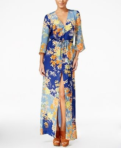 Constanze Printed Bell-Sleeve Maxi Dress by Guess in Mistresses