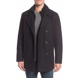 Burnett Wool Blend Peacoat by Marc New York in Daddy's Home 2