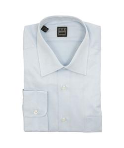 Solid Light Blue Cotton Dress Shirt by Ike Behar in Ballers