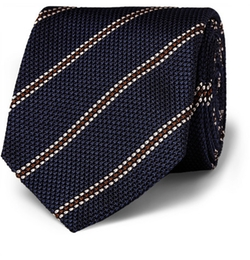 Striped Woven-Silk Tie by Drake in Kingsman: The Secret Service