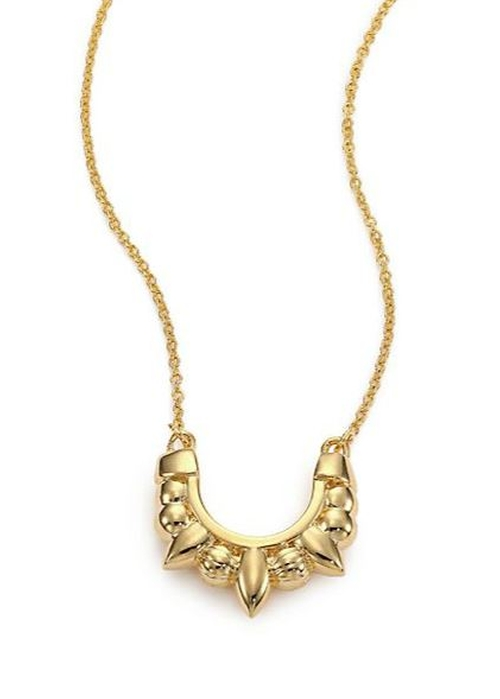 Mini Tribal Spike Pendant Necklace by Pamela Love in The Flash - Season 2 Episode 3