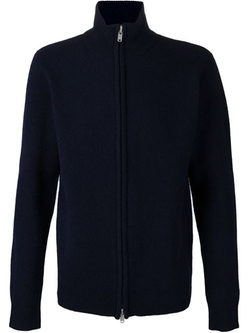 Double Zip Cardigan by YMC in Black-ish