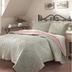 Garden Glitz Reversible Quilt by Waverly in Fifty Shades of Grey