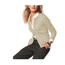 Women's Cashmere Crew Neck Cardigan by Parisbonbon in Suits