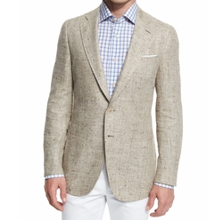 Gregory Summer Donegal Two-Button Sport Coat by Isaia in Rosewood