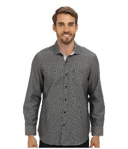 Island Modern Fit Connect The Dots Solid L/S Shirt by Tommy Bahama Denim in Ride Along