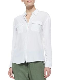 Sway Long-Sleeve Collared Blouse by AG Adriano Goldschmied in Million Dollar Arm