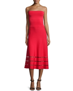 Strapless Fit-and-Flare Ponte Dress by Ohne Titel in The Bachelorette
