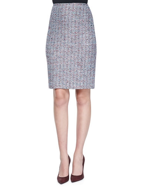 Confetti Tweed Pencil Skirt by St. John Collection in The Good Wife - Season 7 Episode 6