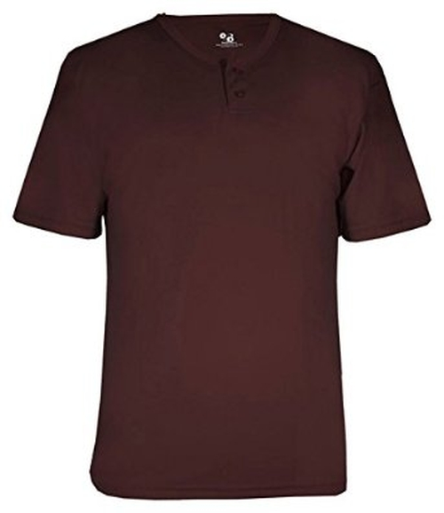 Comfort Short Sleeve Henley T-Shirt by Badger in Ride Along 2