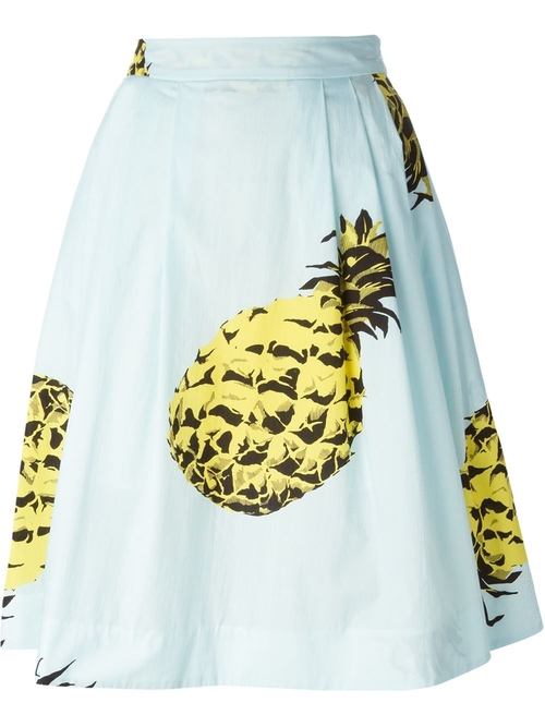 Pineapple Print Midi Skirt by MSGM in Pretty Little Liars - Season 6 Episode 5