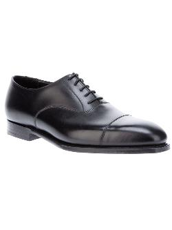 'Audley' Oxford Shoe by Crockett & Jones in Fifty Shades of Grey
