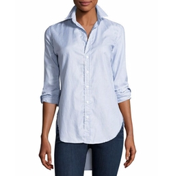Grayson Button-Down Italian Twill Shirt by Frank & Eileen in Pitch Perfect 3