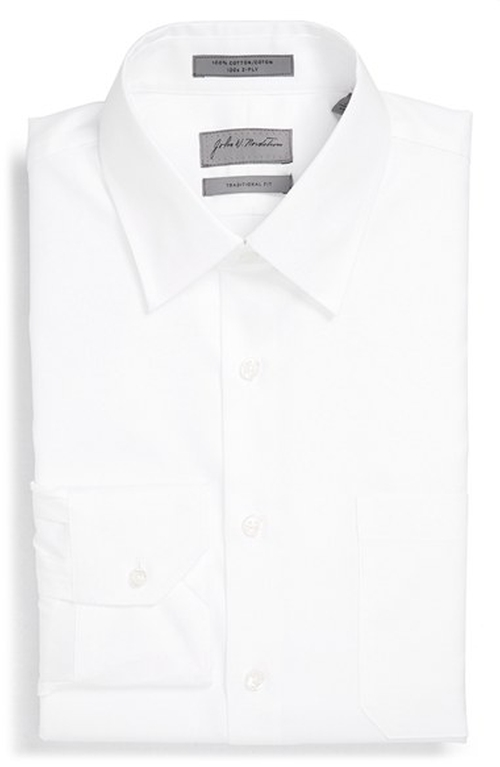 Traditional Fit Solid Piqué Dress Shirt by John W. Nordstrom in Spotlight