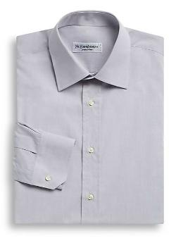 Modern-Fit Cotton Dress Shirt by Yves Saint Laurent in Anchorman 2: The Legend Continues