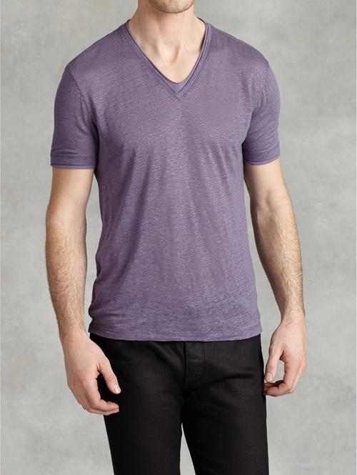 Linen V-Neck Shirt by John Varvatos in X-Men: Apocalypse