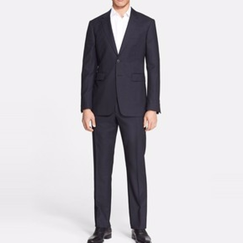 Milbury Extra Trim Fit Plaid Virgin Wool Suit by Burberry in Suits