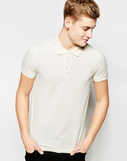 Premium Polka Dot Pique Polo Shirt by Jack & Jones in Master of None