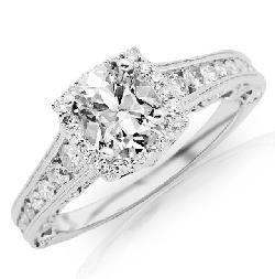 1.77 Carat GIA Certified Cushion Cut Brilliant Diamond Engagement Ring by Chandni Jewels in Oculus